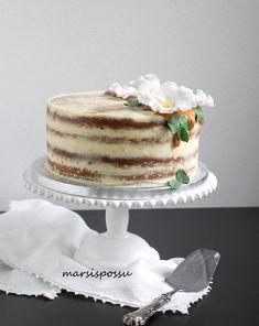 Porkkanakakku Vanilla Cake, Desserts, Food, Tailgate Desserts, Deserts, Essen, Postres, Meals, Dessert