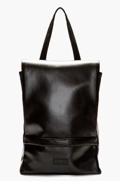 RAD BY RAD HOURANI Black Foil Laptop Backpack