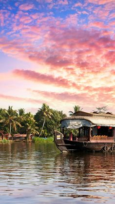 Backwaters sunset. Kerala, India