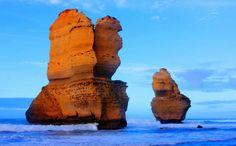 """Doce Apóstoles, """"este increíble acantilados de la costa frente al mar en el Parque Nacional de Port Campbell, en el estado australiano de Victoria"""