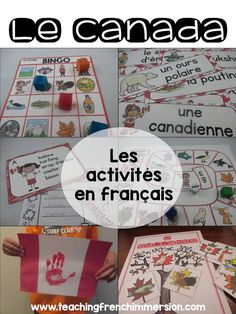 """Canada themed blog post! Fun selection of activities to celebrate Canada or """"la fête du Canada"""" in French!"""