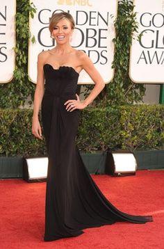 Giuliana Rancic Black Evening Dress 2011 Golden Globe Awards - TheCelebrityDresses