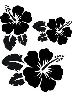 kreativ-wish . - Silhouette Cameo Silhouetten - www.kreativ-wish . Stencil Patterns, Stencil Painting, Stencil Designs, Silk Painting, Plumeria Flowers, Hawaiian Flowers, Cricut Vinyl, Cricut Craft Room, Silhouette Projects