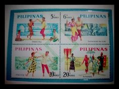 Philippine Folk Dances Issued on Sept 15,1963. The famous Phil. dances known to the world by Bayanihan Dance troupe, FEU Dance Troupe and others. (1)Tinikling (2)Pandanggo sa Ilaw (3)Itik-Itik (4) Singkil