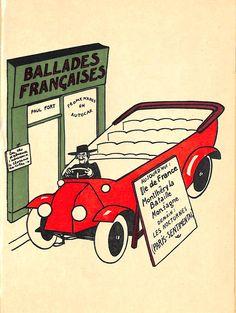 Paul Fort, Ballades Francaises Illustration on Chairish.com