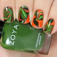 This is why I love this colour. Nail Polish Designs, Nail Art Designs, Fingernails Painted, Football Nails, Nail Garden, Water Marble Nail Art, Halloween Nail Art, Holiday Nails, Cool Nail Art