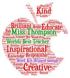 Thank you teacher or teaching assistant word art | Thank you ...