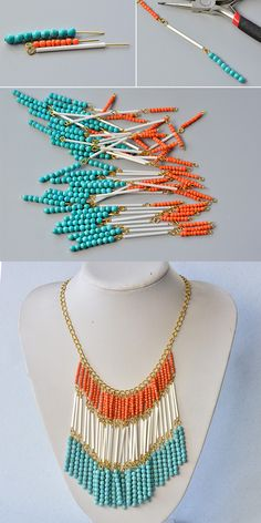 Homemade jewelry - Like the beaded bib necklace The details will be shared by LC Pandahall com soon – Homemade jewelry Jewelry Clasps, Seed Bead Jewelry, Beaded Jewelry, Jewellery, Glass Jewelry, Seed Beads, Diy Schmuck, Schmuck Design, Handmade Necklaces