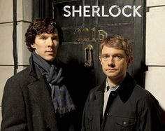 Sherlock stars Benedict Cumberbatch (Sherlock Holmes) and Martin Freeman (Doctor John Watson)