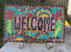 One of my first mosaic pieces.  Sold
