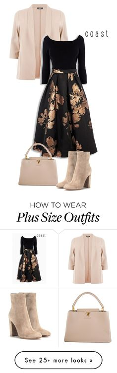 """""""FloralDream"""" by kicsijahmeky. Change shoes & it's perfect. Louis Vuitton and Gianvito Rossi Curvy Fashion, Modest Fashion, Look Fashion, Plus Size Fashion, Autumn Fashion, Womens Fashion, Gq Fashion, Lila Outfits, Casual Outfits"""