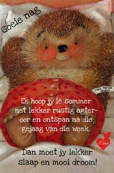 Good Night Wishes, Good Morning Good Night, Good Night Quotes, Day Wishes, Morning Wish, Good Night Sleep Tight, Goeie Nag, Goeie More, Afrikaans Quotes