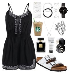 """""""thunder, feel the thunder..."""" by annayalee-gerber ❤ liked on Polyvore featuring Birkenstock, Lokai, I Love Ugly, Roberto Coin, Avon, Belk Silverworks, Pirette and Eos"""