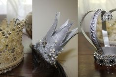 Party Crowns, Lace Crown - DIY http://www.youtube.com/watch?v=BXgkJj8o6xE #DIYcrowns, #PartyCrowns, #crowns, #TProll_crafts