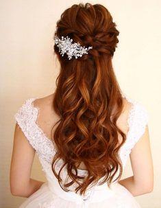 penteados de noiva cabelo solto vintage é lindo
