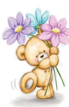 Teddy Bear Images, Teddy Bear Pictures, Canvas Artwork, Canvas Art Prints, Teddy Bear Drawing, Blue Nose Friends, Cute Animal Illustration, Cute Teddy Bears, Tatty Teddy