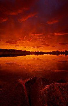 """The Break of Dawn"" Wisconsin Horizons by Phil Koch"