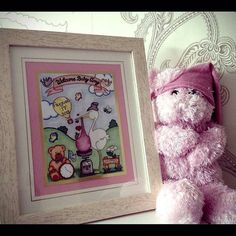A cute photo of a boogiecatdesigns.com new baby toon to celebrate the bundle of joy. It features lots of little details that make it personalised to the baby and their birth! #newbaby #bundleofjoy  #baby #babygirl #newarrival #babies #babygift #babypresent #newbabygirl #newbabyboy #littlegirl #littleboy #child #newchild New Baby Girls, Baby Girl Gifts, Cute Gifts, Unique Gifts, Baby Presents, Godchild, Daughter Of God, Baby Birth, Welcome Baby