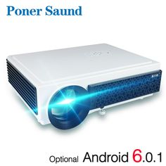 Poner Saund LED Projector Full HD Android Projector Wifi Video Smart for Home Theater Free Gifts Proyector Hdmi-in LCD Projectors from Consumer Electronics Led Projector, Projector Price, Led Light Store, Star Night Light, Night Lights, 3d Video, Home Theater Projectors, 3d Home, Home Cinemas