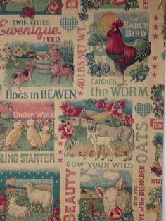 Vintage feedsack reproduction fabric  OOP by KoopsKountryKalico, $9.99