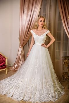 AdoraSposa 2017 Baroque Collection #bridal #wedding #weddingdress #weddinggown #bridalgown #dreamgown #dreamdress #engaged #blush #romantic #inspiration #bridalinspiration #train #princess #weddinginspiration #adorasposa #weddingdresses
