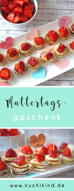 Make mother's day gift – 3 great ideas - Home Page Mother In Law Gifts, Mother's Day Diy, Crepes, Food Gifts, Mini Cupcakes, Sweet Recipes, Healthy Snacks, Best Gifts, How To Memorize Things