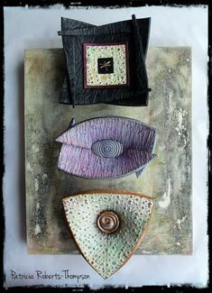 Wall art by Patricia Roberts-Thompson. Bowls made from Helen Breil's tutorial.