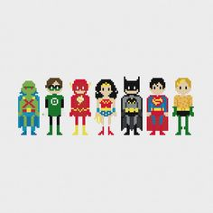 Justice League of America Cross Stitch Pattern by pixelsinstitches