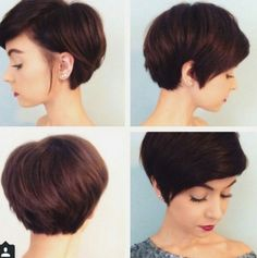 Coupe courte femme brune #tomboy #haircut