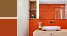 """Résultat de recherche d'images pour """"orange naturofloor"""" Orange, Bathroom Lighting, Sink, Images, Mirror, Furniture, Home Decor, Bath, Searching"""