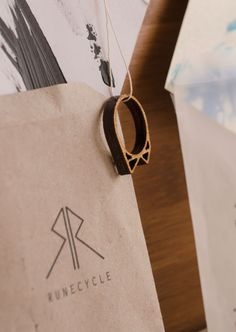 """laser cut ring upcycled out of birch wood – rune meaning """"R"""", """"change"""", """"journey"""" and """"travel"""" available on etsy.com/shop/runecycle Runes, Laser Cutting, Birch, Journey, Sweets, Change, Wood, Bracelets, Etsy"""