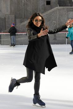 Shay Mitchell takes a selfie on the ice at Winter Wonderland. | Pretty Little Liars | ABC Family