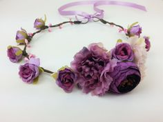 Hey, I found this really awesome Etsy listing at https://www.etsy.com/listing/464221312/purple-flower-crown-flower-hair-garland