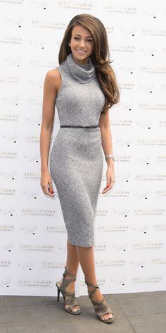 Yep. Michelle Keegan just described how *all* girls feel about clingy outfits...