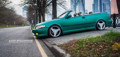 """Fisheye from Moscow was the owner of several Saab cars so far, and this is his fourth Saab in line, beautiful Saab Convertible called """"Devil of New Jersey"""" (ice hockey fan). Saab 9 3 Convertible, Ice Hockey, New Jersey, Volvo, Moscow, Devil, Fan, Roads, Beautiful"""