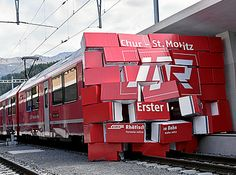 Arrival of a special InterRegio train from Chur marked the opening of the rebuilt Rhätische Bahn station. Swiss Railways, Take The Opportunity, Chur, Coaches, Switzerland, Planes, Trains, The Unit, Paths