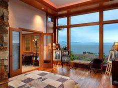 Dormitorios de madera y piedra