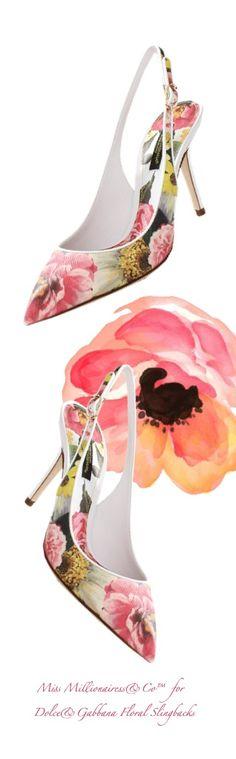 DolceGabbana 2015 - Floral Slingbacks