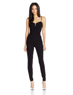 Guess Women's Sleeveless Mona Lace up Ponte Jumpsuit => Quickly view this special  product, click the image : Fashion