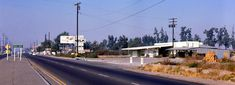 "Harbor Blvd at Heil Ave, Fountain Valley, CA, 1960s  The Brookhurst Dairy and other businesses can be seen.   There are no known copyright restrictions on this image. All future uses of this photo should include the courtesy line, ""Photo courtesy Orange County Archives."""