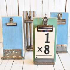 Salvaged Green Clipboard by rescuedjunk on Etsy, $24.00