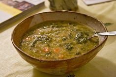 Lebanese Spinach and Lentil Soup
