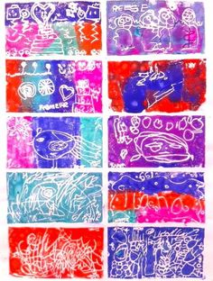 Awesome Gift Made from Make+Believe Monoprint Kit