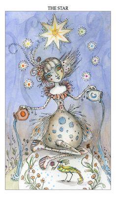 The Art of Paulina Cassidy, the star ~ #Tarot card representing #Aquarius