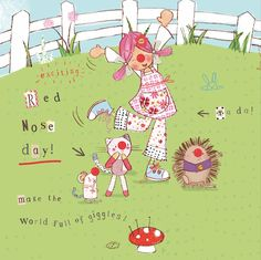 Emily Button Comic Relief Red Nose Day Red Nose Day, Painting Collage, Cute Illustration, Pretty Little, Comic, Adventure, Button, Drawings, Kids
