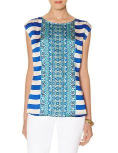 Multicolor Scarf Print Layering Top from THELIMITED.com $50