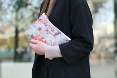 Samantha Warren London - www.samanthawarren.co.uk Silk and leather printed clutch bag. Photography by Claudius Ricketts