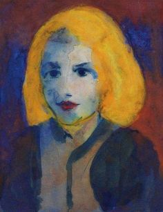 "Emil Nolde, ""The Head of Girl"", 1925 on ArtStack #emil-nolde #art"