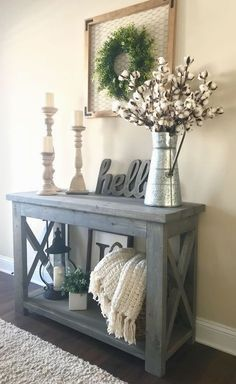 - Furniture Designs - Beautiful Entry Table Decor Ideas to give some inspiration on updating your . Beautiful Entry Table Decor Ideas to give some inspiration on updating your house or adding fresh and new furniture and decoration. Flur Design, Wall Design, House Design, Design Room, Sofa Design, Design Design, Living Room Cabinets, Hallway Designs, Farmhouse Homes