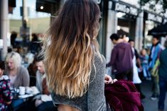 straight dark brown to blonde ombre hair - Google Search